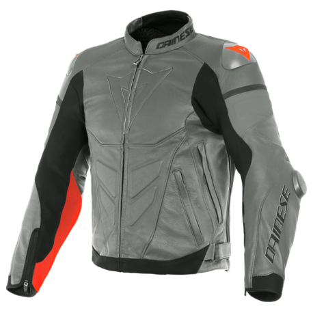 DAINESE SUPER RACE CHARCOAL-GRAY FLUO-RED