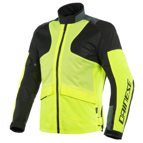 DAINESE AIR-TOURER TEX FLUO-YELLOW EBONY BLACK
