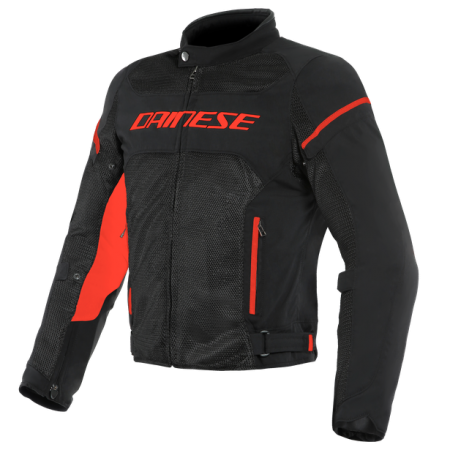 DAINESE AIR FRAME D1 TEX BLACK WHITE FLUO-RED