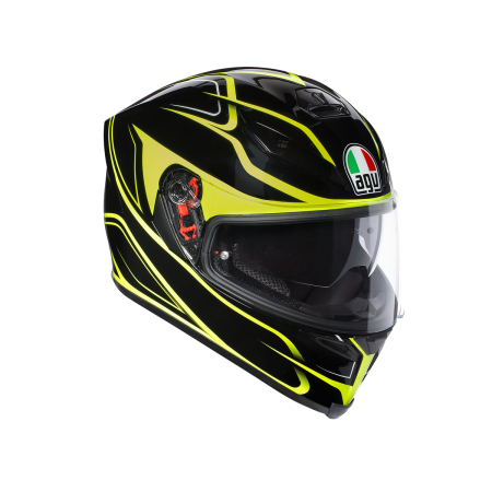 AGV K-5 MAGNITUDE BLACK YELLOW FLUO