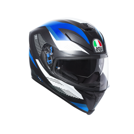AGV K-5 MARBLE MATT BLACK WHITE BLUE