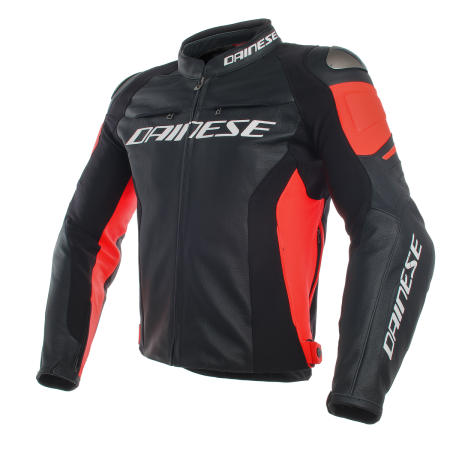 DAINESE RACING 3 BLACK LEATHER JACKET