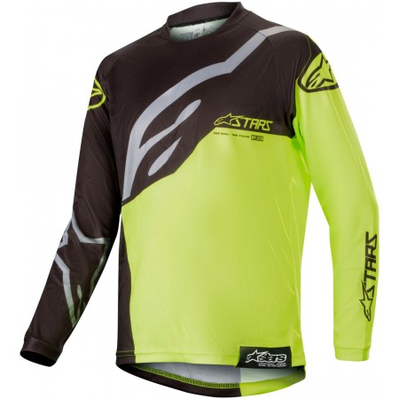 ALPINESTARS YOUTH RACER FACTORY BLACK YELLOW FLUO