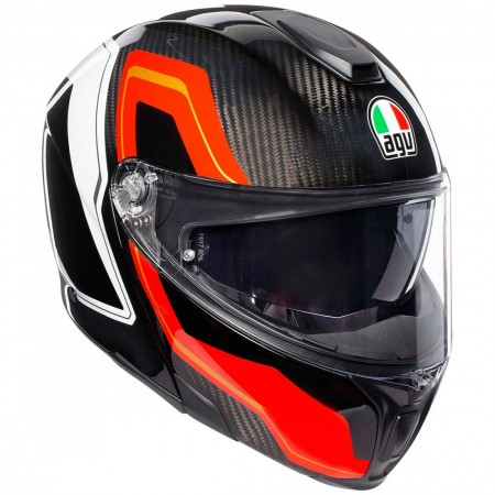 AGV SPORTMODULAR SHARP CARBON WHITE RED